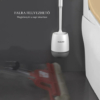 Kép 5/10 - Falra szerelhető szilikon WC kefe + tartó