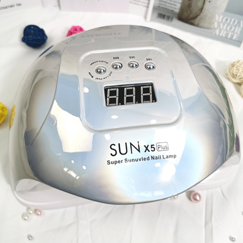 UV/LED műkörmös lámpa SUN x5 Plus gyöngyház szürke